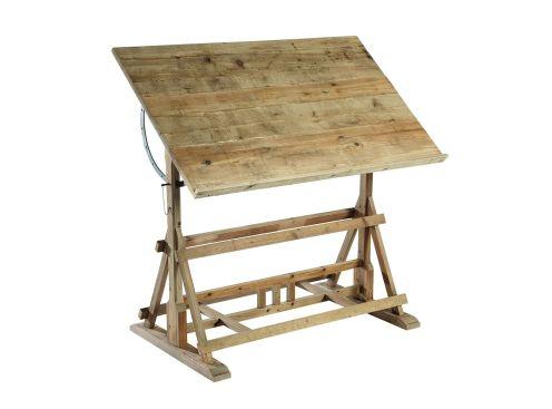 Bureau signature cabane table d 39 architecte vieux bois - Signature meubles ...