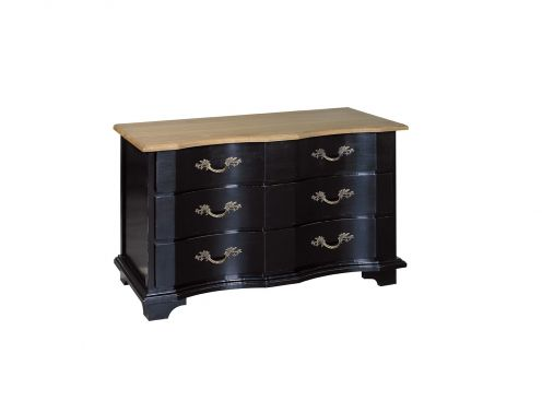 commode signature suzanne 3 tiroirs plateau ch ne. Black Bedroom Furniture Sets. Home Design Ideas