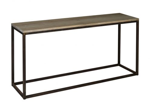 console signature industry m tal noir et ch ne oxyd. Black Bedroom Furniture Sets. Home Design Ideas