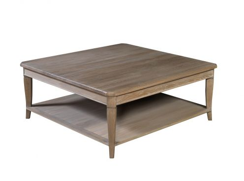 Table basse signature double plateaux pieds fuseaux 110 cm - Signature meubles ...
