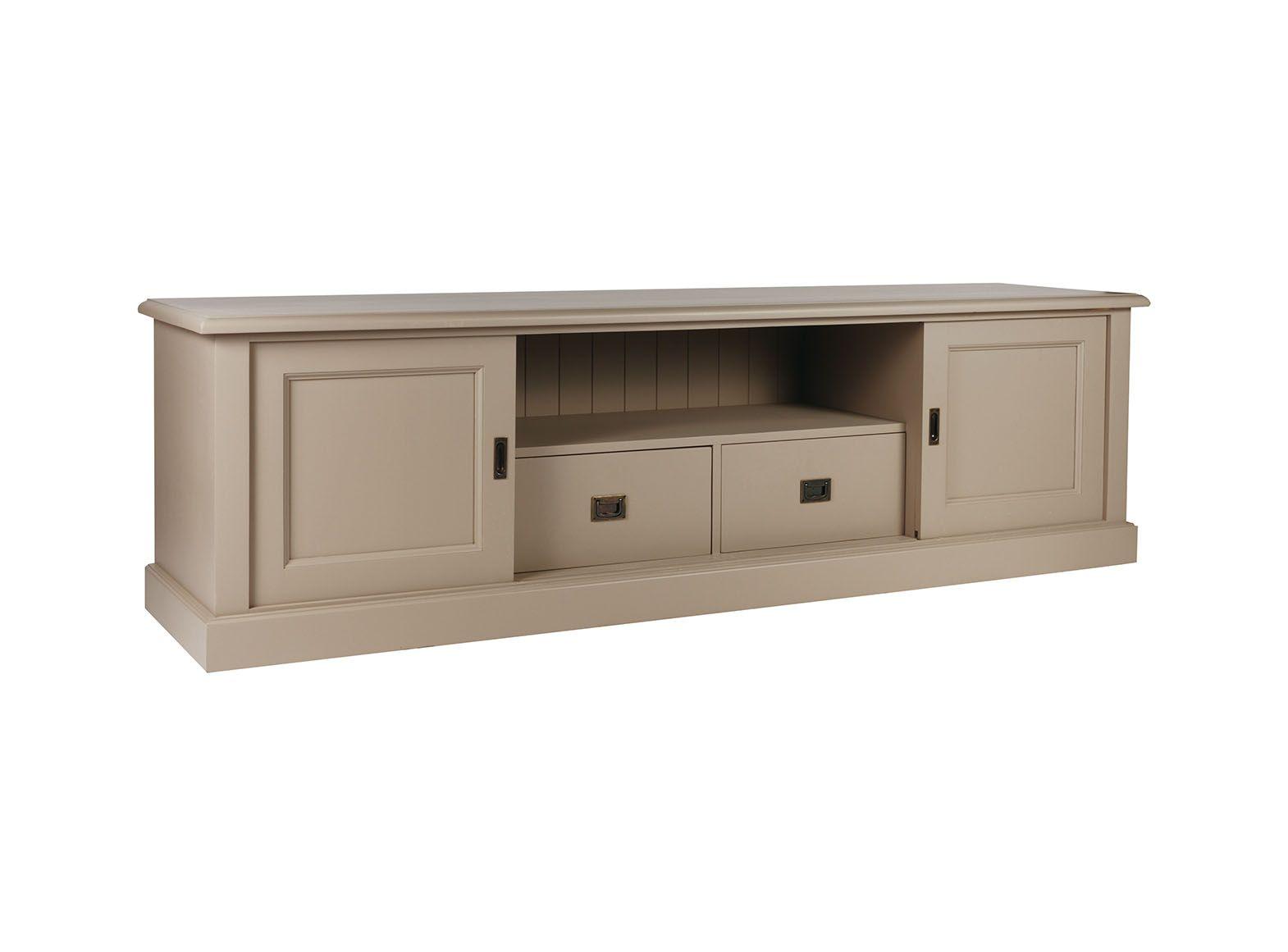 meuble multim dia portes coulissantes 2 tiroirs jiceka d597 inf. Black Bedroom Furniture Sets. Home Design Ideas