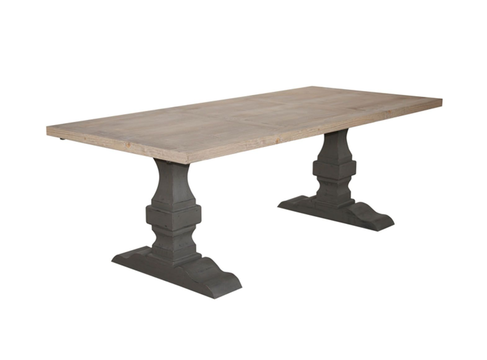 table de repas monastere pieds massif 200 cm jiceka d692. Black Bedroom Furniture Sets. Home Design Ideas