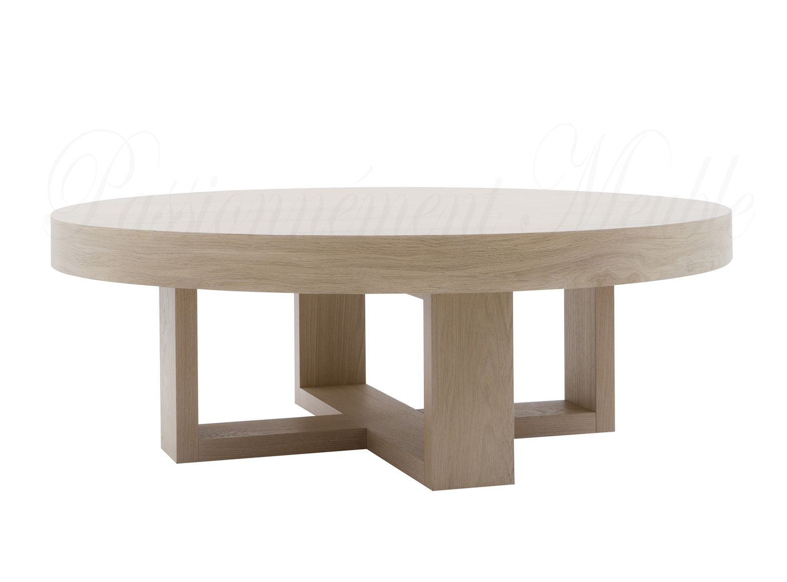 table basse luz interiors croix ronde 120 cm. Black Bedroom Furniture Sets. Home Design Ideas